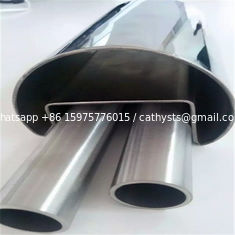 201 304 mirror polish stainless steel groove tubes and SS slot pipes for railing decoration
