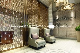 China Bronze Stainless Steel Screen Panels For Hotels/Villa/Lobby Interior Decoration supplier