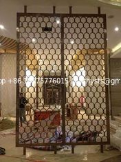 China Bronze Stainless Steel Partition For Hotels/Villa/Lobby Interior Decoration supplier