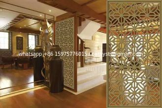 China Mirror Copper Stainless Steel Room Dividers For Hotels/Villa/Lobby/Shopping Mall supplier