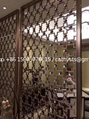 Mirror Copper Stainless Steel Room Dividers For Hotels/Villa/Lobby/Shopping Mall