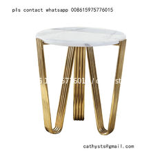 marble table titanium gold stainless steel metal base or leg