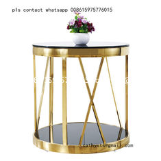 Nordic living room modern tempered glass stainless steel table base