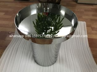 China high standard metal furniture customized stainless steel table with mirror or brushed finish supplier
