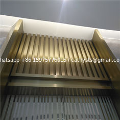 Mirror Finish Bronze Stainless Steel Angle U Shape Trim 201 304 316 for wall ceiling furniture decoration
