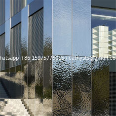 Designed metal sheet wall cladding panel hammered decorative mirror stainless steel