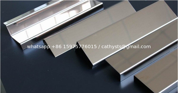 Stainless steel shaped pieces u groove edging trim