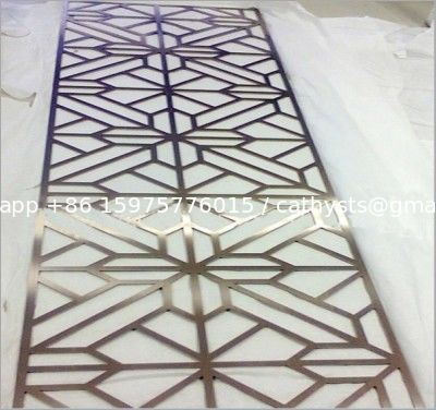 china rose gold decorative room dividers stainless steel laser cut sheet partition supplier