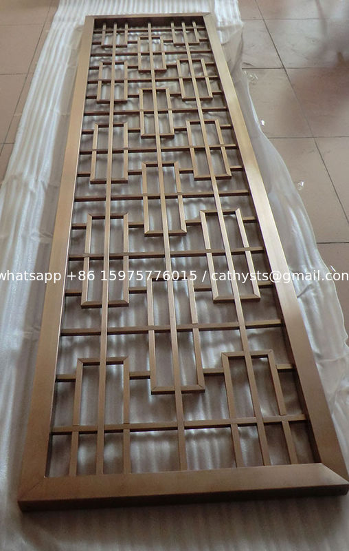 Rose gold stainless steel mirror 304 color screen room divider