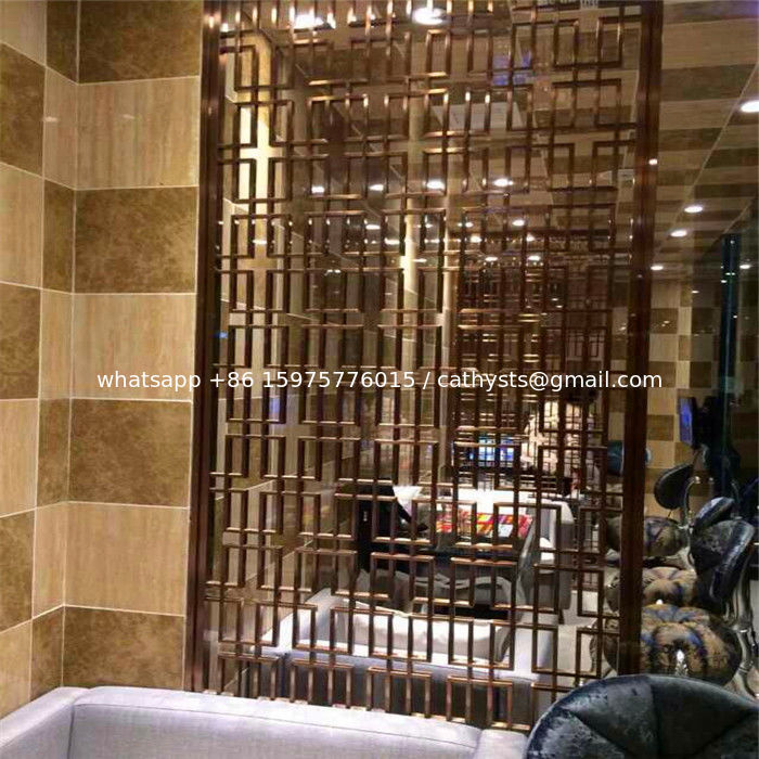 china fashion design for hotel partition screen stainless steel color room divider supplier - Stainless Steel Hotel Design