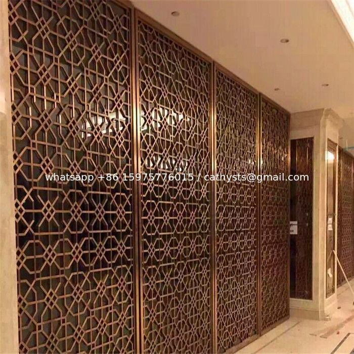 construction building stainless steel dubai room divider