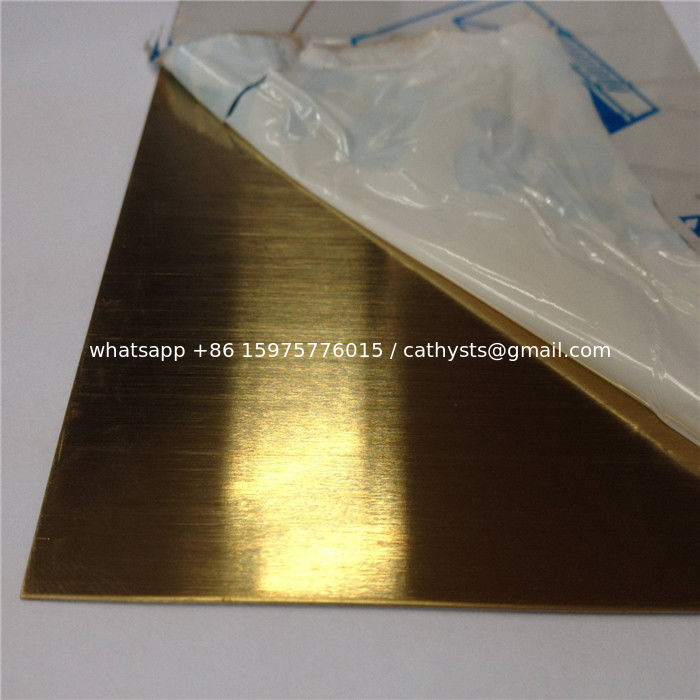 AISI 304 316 stainless steel sheet hairline brass color decorative ...