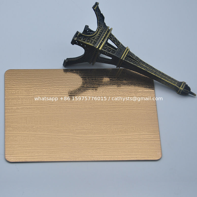pvd color coating antique bronze stainless steel panel sheet