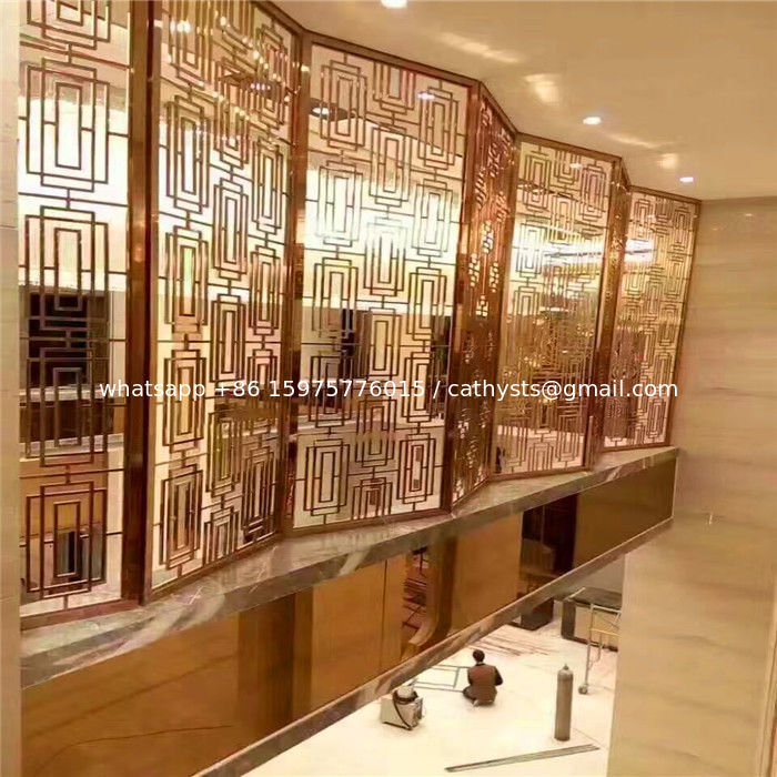 China Luxury Stainless Steel Screens Amp Room Dividers Type For Commercial Home Decor Supplier