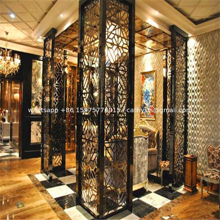 Luxury interior design modern home furniture stainless for Steel divider design