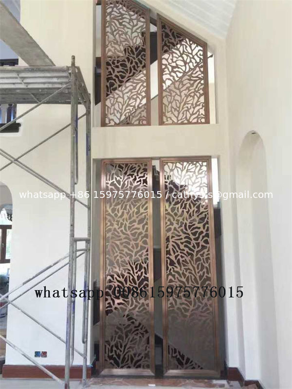Colored stainless steel art screen room divider partition for decorative