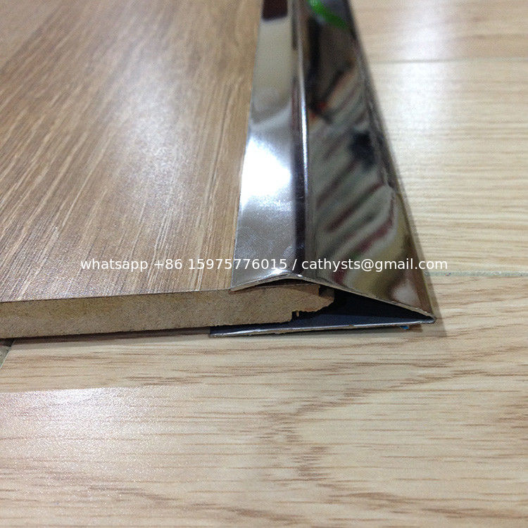 China Stainless Steel Metal Floor Strip Trim Edges Brushed Finish Tile Supplier