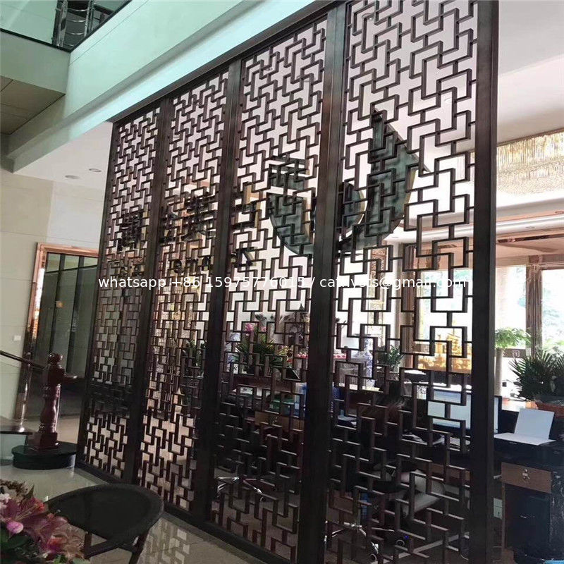 China Restaurant Wall Divider Metal Screen Stainless Steel Room Supplier