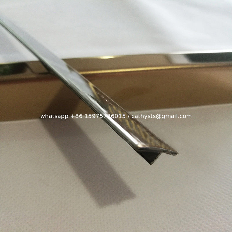 Custom Made T Shape Tile Trim 304 Stainless Steel Mirror