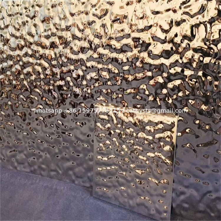 Water Ripple Shaped Stainless Steel Sheet Hammered