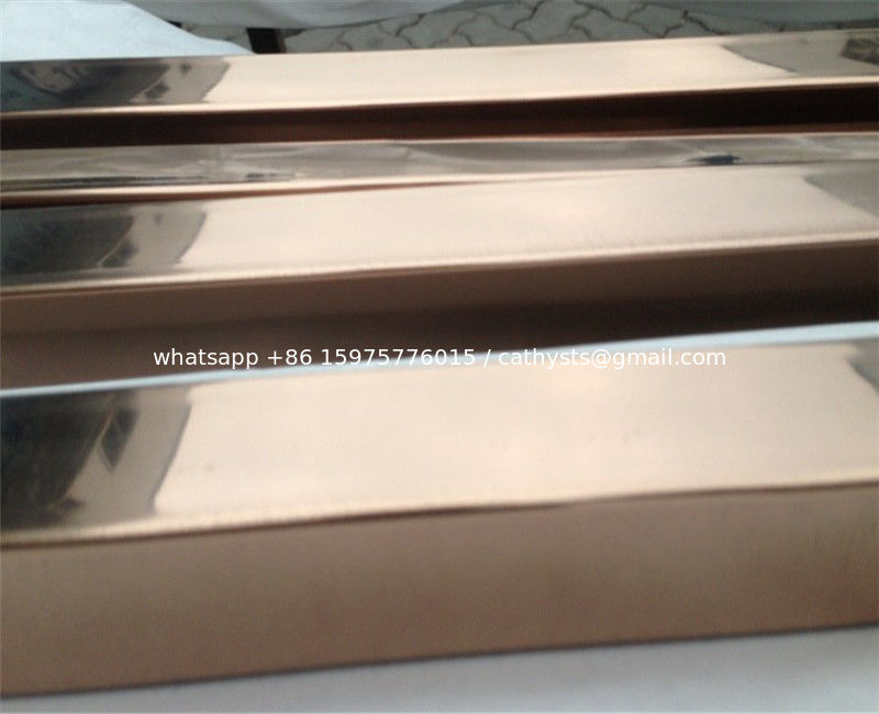 88989c3bba1 China high quality decorative stainless steel pipe square tube with gold or rose  gold mirror finish