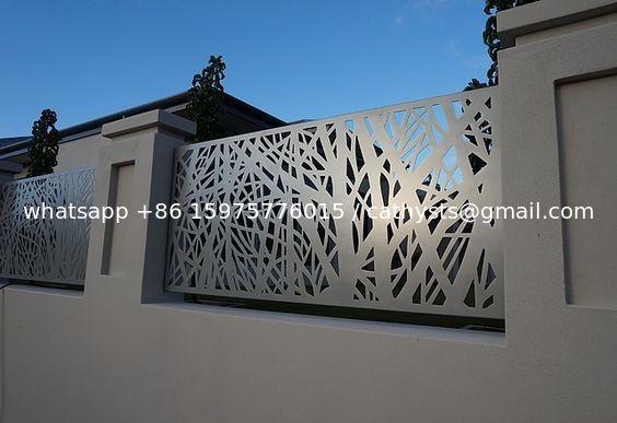 Architectural Metal Aluminum Decorative Laser Cut Fencing