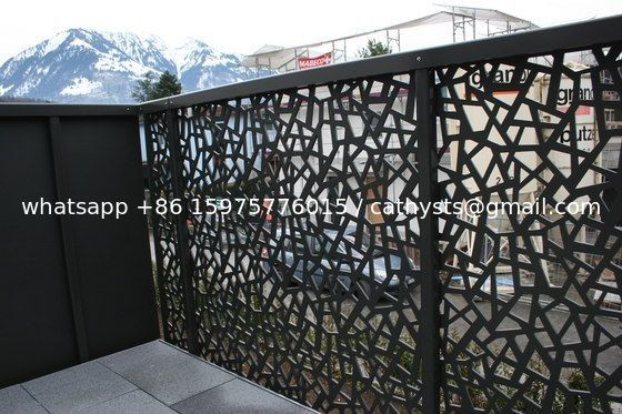Powder Coated Decorative Outdoor Metal Screen Villa Garden