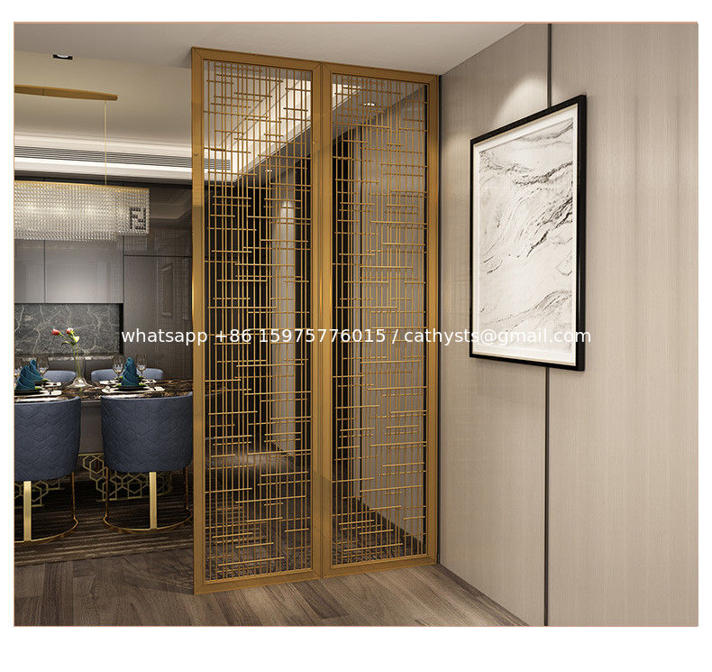 Hairline Gold Stainless Steel Wall Panels For Office Room Interior Decoration