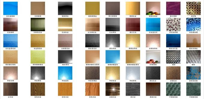 304 mirror color stainless steel sheet with colors ROSE, GOLD, BLACK, GREEN,BRONZE