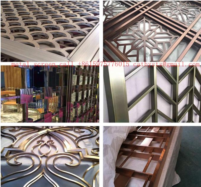 Decorative Metal Work For Hotel Screen Partition