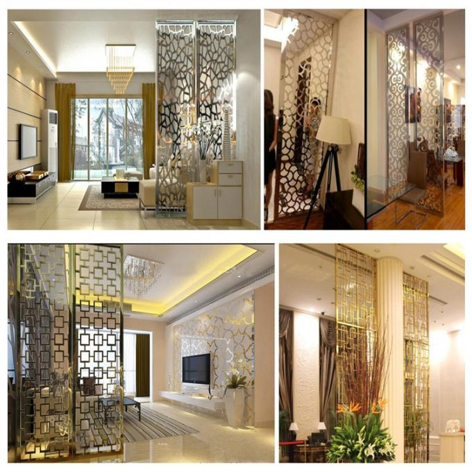 Ss Mirror Polish Bronze Color Panel Sheet For Hotel