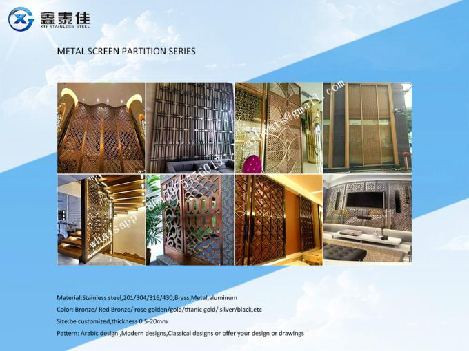 Decorative metal work for Hotel Screen Partition Restaurant Screen Partition Wall panel