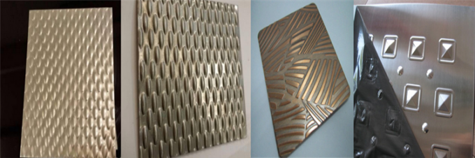 304 316 Embossed Metal Sheet Decorative Stainless Steel Sheet for Elevator Ceiling Panel
