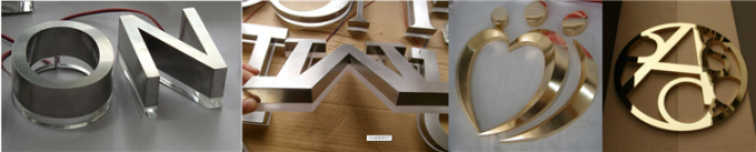 Custom led backlit stainless steel signs channel letters laser cutting