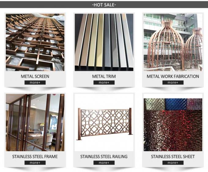 Hairline Gold Metal Screens For Office/Room/Interior Decoration