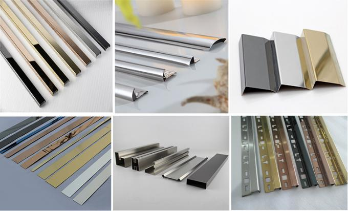 SS304 profiles mirror finish stainless steel U channel for Top glass railings