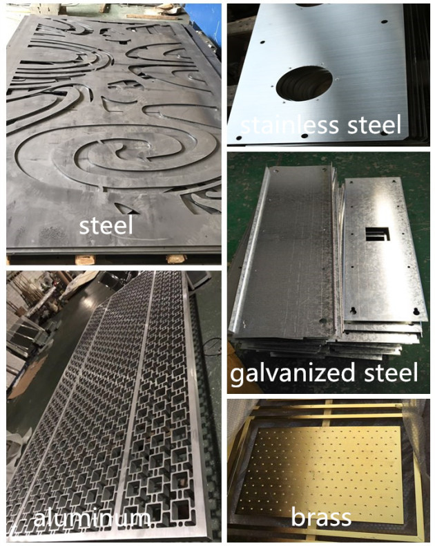 CNC Laser cutting hot rolled plate perforated stainless steel sheet metal work with mirror or hairline finish