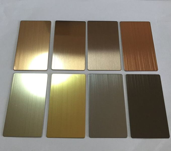 Stainless steel 304 in PVD bronze HL for lift cladding  Sheet Size : 1219mmX3000mmX1.5mm