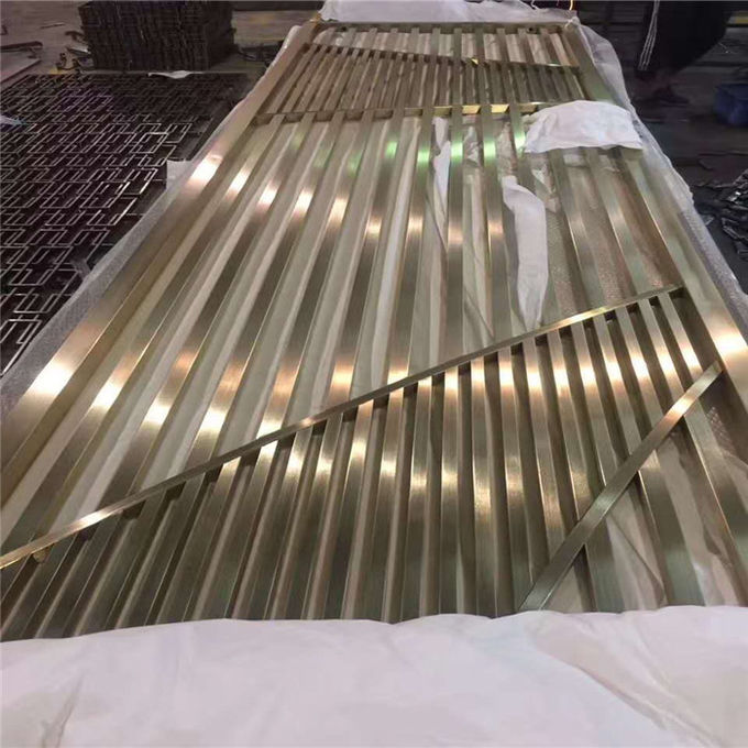 Restaurant Wall Divider 3d Decorative Panel Stainless