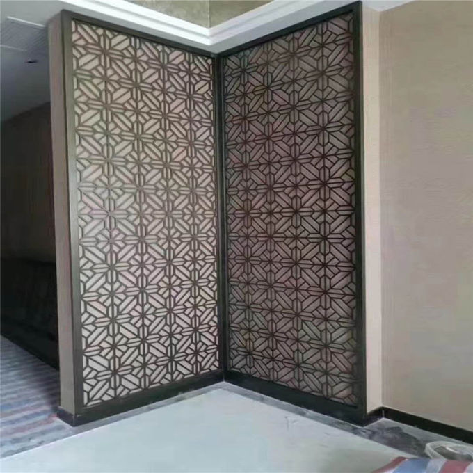 interior decorative wall covering panels laser cut metal screens made in china