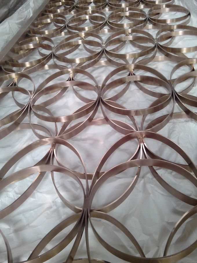 Mirror Copper Stainless Steel Room Dividers For Facade/Wall Cladding/ Curtain Wall/Ceiling