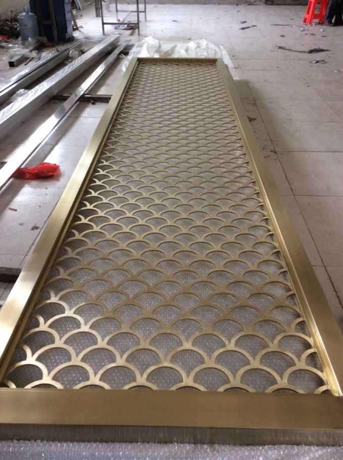 Mirror Copper Stainless Steel Perforated Panels For Facade