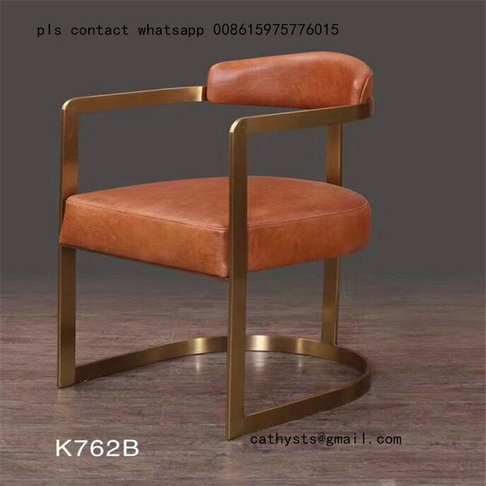 Customized Hairline Gold stainless steel table chair for restaurant metal furniture