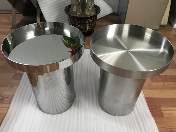 high standard metal furniture customized stainless steel table with mirror or brushed finish