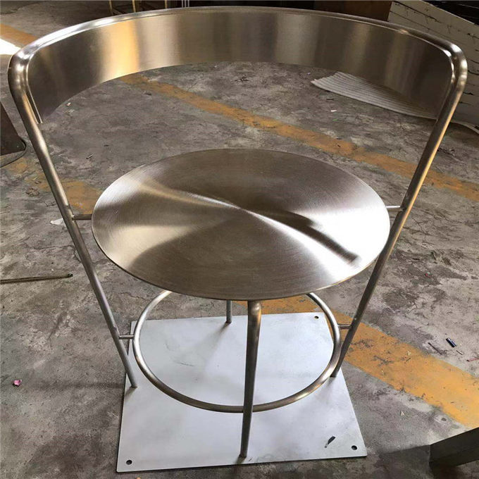 steel Metal furniture and stainless steel chair and tables mirror or brushed finish